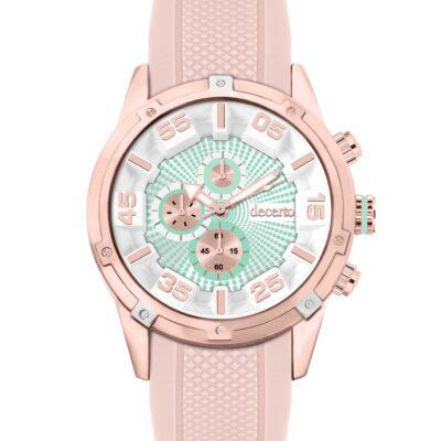 Ρολόι Decerto Allure 5052-8 Ροζ Λουράκι Σιλικόνης