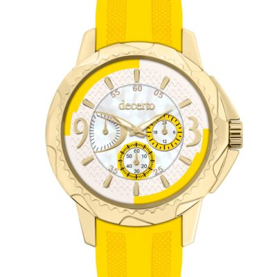 Ρολόι Decerto Candy 9393-4 Κίτρινο Λουράκι Σιλικόνης