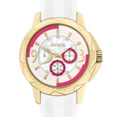Ρολόι Decerto Candy 9393-6 Λευκό Λουράκι Σιλικόνης