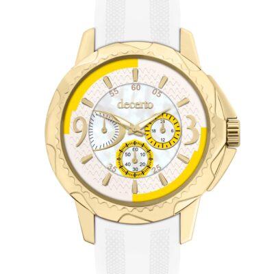 Ρολόι Decerto Candy 9393-7 Λευκό Λουράκι Σιλικόνης