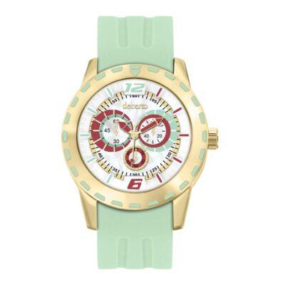 Ρολόι Decerto Flirty 1111-5 Πράσινο Λουράκι Σιλικόνης