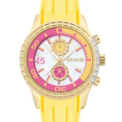 Ρολόι Decerto Ice Lolly 1010-42 Κίτρινο Λουράκι Σιλικόνης
