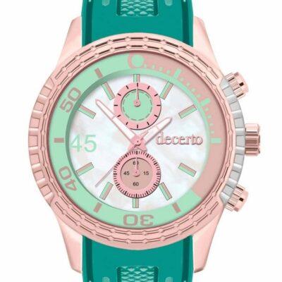 Ρολόι Decerto Ice Lolly 1010-84 Πράσινο Λουράκι Σιλικόνης