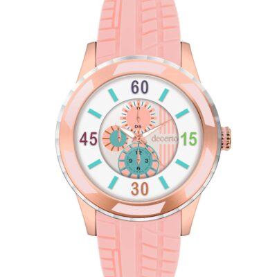 Ρολόι Decerto Lollipop 3060-4 Ροζ Λουράκι Σιλικόνης