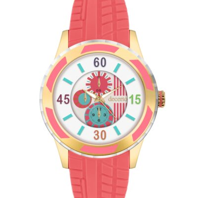Ρολόι Decerto Lollipop 3060-5 Κοραλλί Λουράκι Σιλικόνης