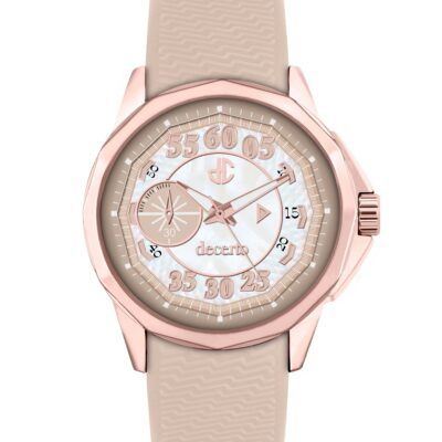Ρολόι Decerto Lovish 4507-2 Μπεζ Λουράκι Σιλικόνης