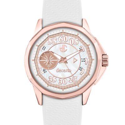 Ρολόι Decerto Lovish 4507-4 Λευκό Λουράκι Σιλικόνης