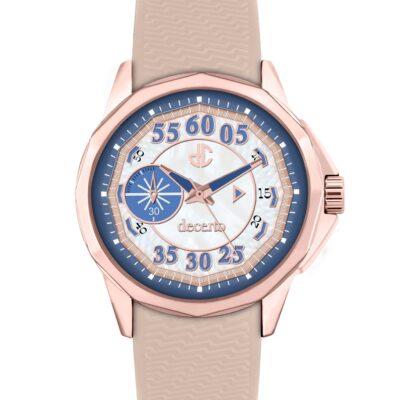 Ρολόι Decerto Lovish 4507-21 Μπεζ Λουράκι Σιλικόνης