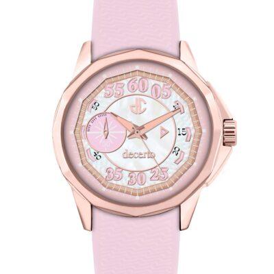 Ρολόι Decerto Lovish 4507-3 Ροζ Λουράκι Σιλικόνης