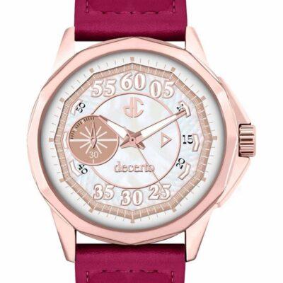 Ρολόι Decerto Lovish 4507-74 Κόκκινο Δέρματινο Λουράκι