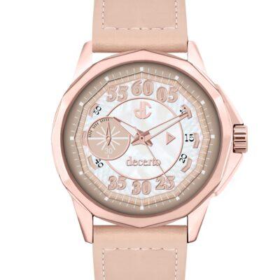 Ρολόι Decerto Lovish 4507-82 Μπεζ Δέρματινο Λουράκι