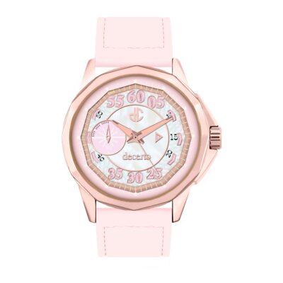 Ρολόι Decerto Lovish 4507-83 Ροζ Δέρματινο Λουράκι