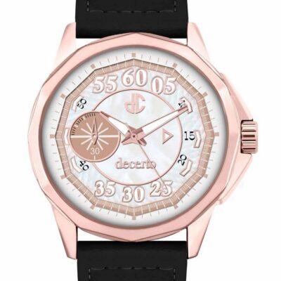 Ρολόι Decerto Lovish 4507-84 Μαύρο Δέρματινο Λουράκι