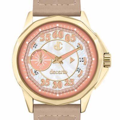 Ρολόι Decerto Lovish 4507-85 Μπεζ Δέρματινο Λουράκι