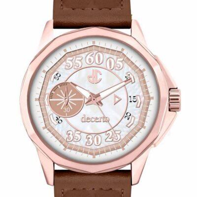 Ρολόι Decerto Lovish 4507-94 Μπεζ Δέρματινο Λουράκι