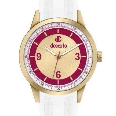 Ρολόι Decerto Royal 9630-12 Λευκό Λουράκι Σιλικόνης