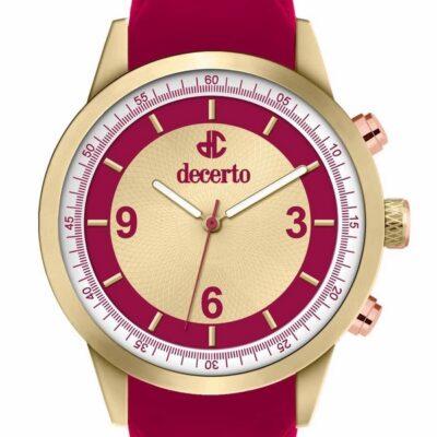 Ρολόι Decerto Royal 9630-92 Κόκκινο Λουράκι Σιλικόνης