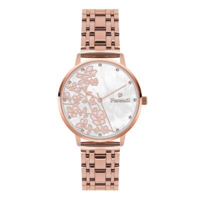 Ρολόι Ferendi Blossom 3820R-203 Ροζ-Χρυσό Μπρασελέ