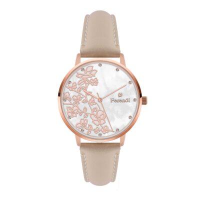 Ρολόι Ferendi Blossom 3820R-33 Nude Δέρματινο Λουράκι