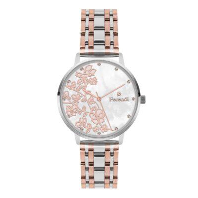 Ρολόι Ferendi Blossom 3820S-223 Ασημί Μπρασελέ