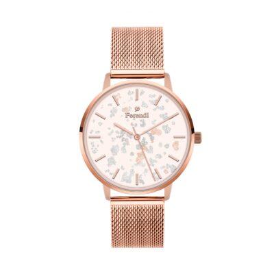 Ρολόι Ferendi Glint 3820R-224 Ροζ-Χρυσό Μπρασελέ