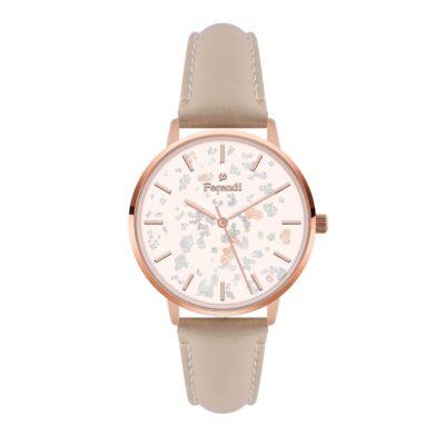 Ρολόι Ferendi Glint 3820R-43 Nude Δέρματινο Λουράκι