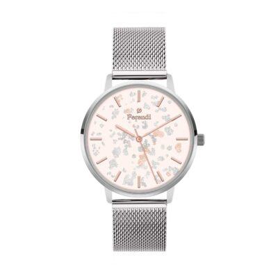 Ρολόι Ferendi Glint 3820S-114 Ασημί Ατσάλινο λουρί
