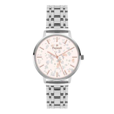 Ρολόι Ferendi Glint 3820S-214 Ασημί Μπρασελέ