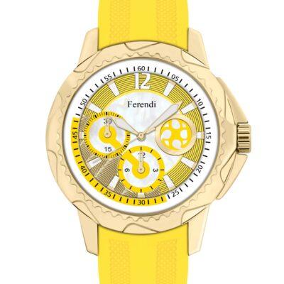 Ρολόι Ferendi Amethisia 2121-4 Κίτρινο Λουράκι Σιλικόνης
