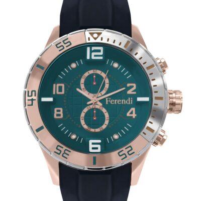 Ρολόι Ferendi Decerto 1401-106 Μαύρο Λουράκι Σιλικόνης