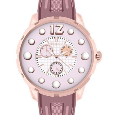 Ρολόι Ferendi Inspiration 3030-28 Ροζ Λουράκι Σιλικόνης