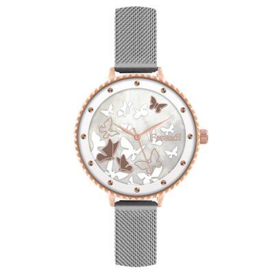 Ρολόι Ferendi Jollity 7460R-115 Ασημί Δέρματινο Λουράκι