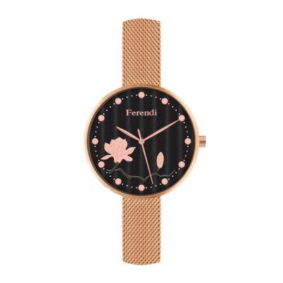 Ρολόι Ferendi Ornament 8945-101 Μπεζ Δέρματινο Λουράκι