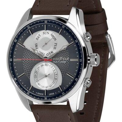 Ρολόι Goodyear Watches 12130101 Καφέ Δέρματινο Λουράκι