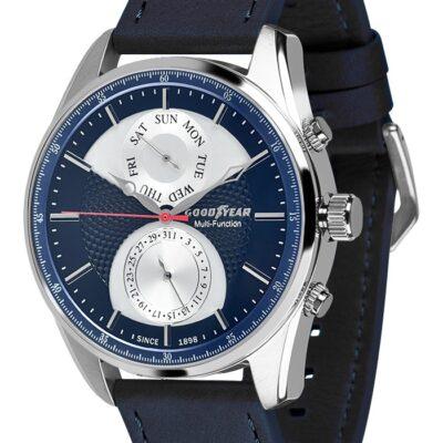 Ρολόι Goodyear Watches 12130102 Μπλε Δέρματινο Λουράκι