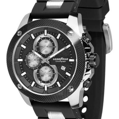 Ρολόι Goodyear Watches 12140101 Μαύρο Λουράκι Σιλικόνης
