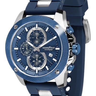 Ρολόι Goodyear Watches 12140102 Μπλε Λουράκι Σιλικόνης