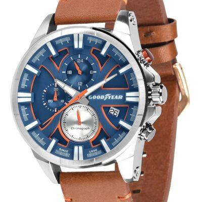 Ρολόι Goodyear Watches 12150201 Καφέ Δέρματινο Λουράκι