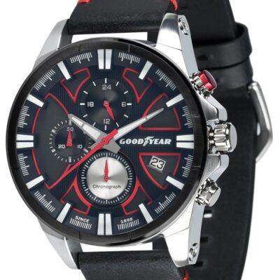Ρολόι Goodyear Watches 12150202 Μαύρο Δέρματινο Λουράκι