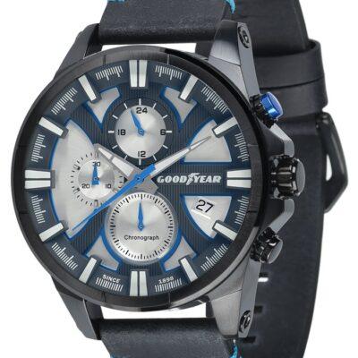Ρολόι Goodyear Watches 12150205 Μαύρο Δέρματινο Λουράκι