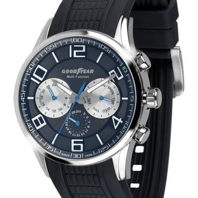 Ρολόι Goodyear Watches 12200101 Μαύρο Λουράκι Σιλικόνης