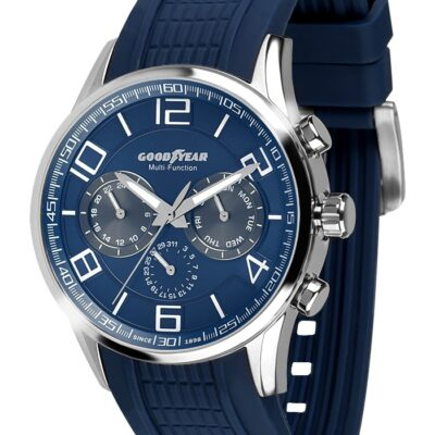 Ρολόι Goodyear Watches 12200103 Μπλε Λουράκι Σιλικόνης