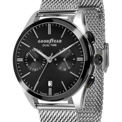 Ρολόι Goodyear Watches 12280101 Ασημί Μπρασελέ