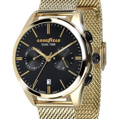 Ρολόι Goodyear Watches 12280103 Χρυσό Μπρασελέ