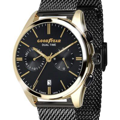 Ρολόι Goodyear Watches 12280104 Μαύρο Μπρασελέ