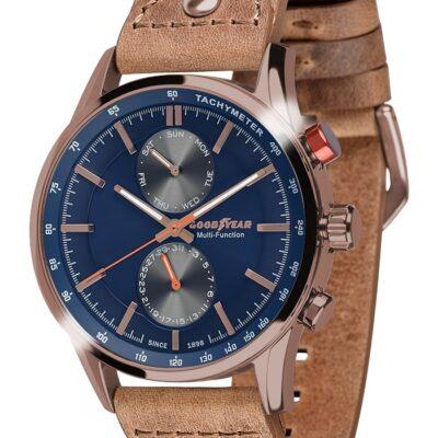 Ρολόι Goodyear Watches 12300106 Καφέ Δέρματινο Λουράκι