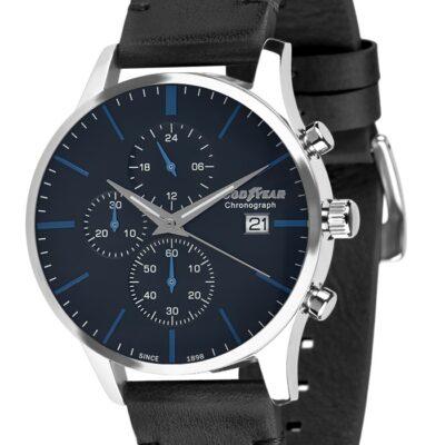 Ρολόι Goodyear Watches 12320102 Μαύρο Δέρματινο Λουράκι
