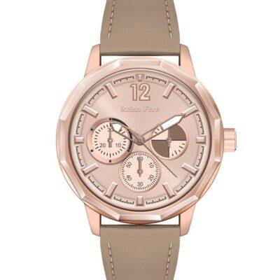 Ρολόι Reina Fere Amphitrite 8826-201 Λαδί Δέρματινο Λουράκι