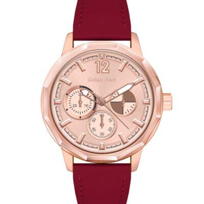 Ρολόι Reina Fere Amphitrite 8826-211 Κόκκινο Δέρματινο Λουράκι