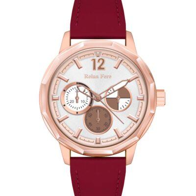 Ρολόι Reina Fere Amphitrite 8826-213 Κόκκινο Δέρματινο Λουράκι